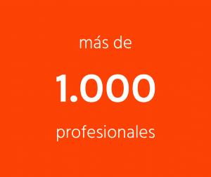 Más de 1000 profesionales